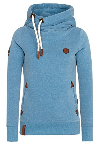 Naketano Damen Kapuzenpullover Darth X Hoodie: Gr. X-Small, Light Blue Melange