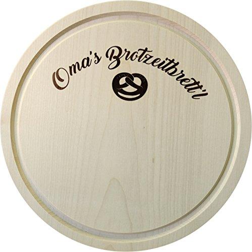 Kaltner Präsente cadeau-idee - snijplank schinkbord hout Anhorn houten bord broodplank Jausenplank Oma`s broodplank (24 cm)