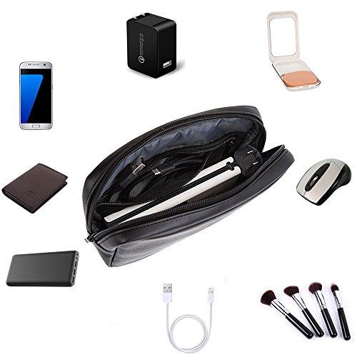 ProCase Zubehör Tasche Organizer Power Bank Hülle, Electronics Zubehör Travel Gear Organisieren Hülle, Kabel Management Festplatte Tasche – Schwarz