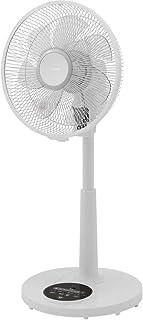 アイリスオーヤマ 扇風機 7枚羽 ソフト気流 首振り 風量6段階 静音 DCモーター タイマー付 リモコン付 90度 上向きタイプ 換気 リビング扇 ホワイト LFD-306R