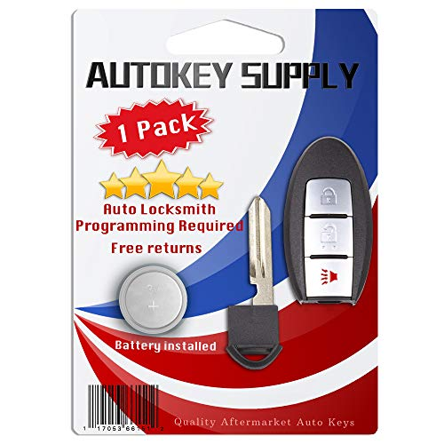AKS Keys Compatible with Nissan 2007-2013 Smart Prox Key Fob 3B FCC# CWTWBU729