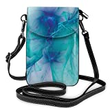 Women Small Cell Phone Purse Crossbody,Modern Creative Computer Art Design With Psychedelic Alternate Shapes Image
