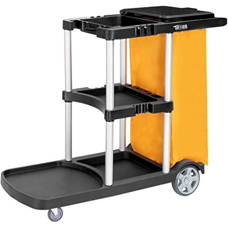 Janitorial Cleaning Oshion Washing Cart Rolling Janitor UItility Cart w//3Shelves