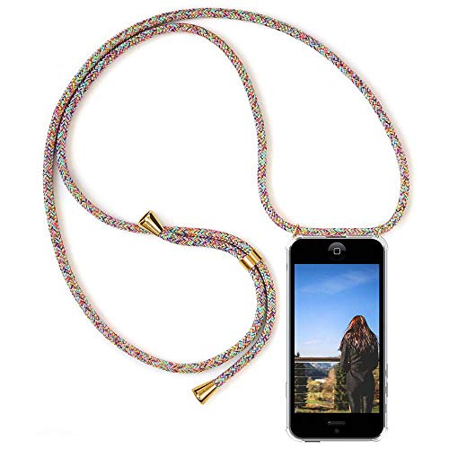 XCYYOO Carcasa de movil con Cuerda para Colgar iPhone 7/8【Versión Popular 2019】 Funda para iPhone/Samsung/Huawei con Correa Colgante para Llevar en el Cuello -Hecho a Mano en Berlin