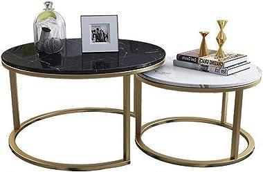 Meubles de décoration intérieure Tables à thé/café Rondes, Ensembles de Tables gigognes empilables pour décoration intérieure