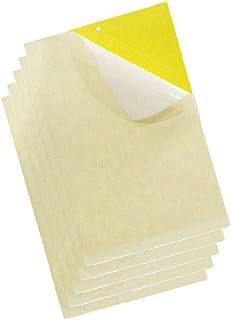 20 Piezas Amarillo Trampas Adhesivas para Moscas Insectos piojos Atrapa Insectos Papel Adhesivo Pegajoso Adhesivo Atrapamoscas De Pegamento Decorativa contra la Mosca Tira de Papel (25 * 20cm)