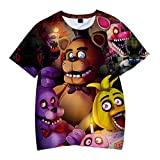 Photo de Siskey T-shirt à manches courtes imprimé 3D Five Nights at Freddy's Freddy Fazbear pour garçon, Five Nights at Freddy's - - Large