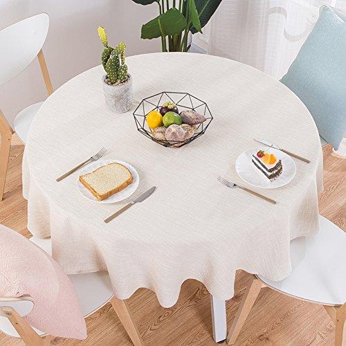 XJ&DD Stoff-tischdecke,Volltonfarbe Baumwolle Einfache Runde Für Coffee Table Esstisch Home Hotel-E 100cm(39inch)