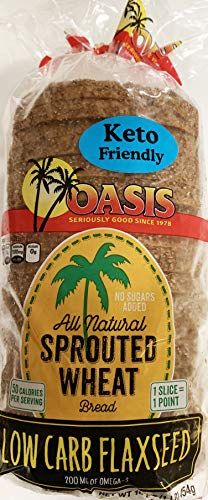 Oasis Flaxseed Bread- Low Carb, Keto, All Natural, Sprouted