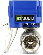 "U.S. Solid 1"" Gemotoriseerde Kogelkraan DN 25 Roestvrij staal Elektrische Kogelklep, 9-24V AC/DC, 2 Draad Auto Terugkeer Setup"