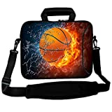 RICHEN 11 11.6 12 12.5 13 inches Case Laptop/Chromebook/Ultrabook/Macbook pro air Notebook PC Messenger Bag Tablet Travel Case Neoprene Handle Sleeve with Shoulder (11-13.3 inch, Basketball Fire)