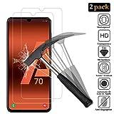 ANEWSIR [2 Pack Protector de Pantalla para Samsung Galaxy A70 Cristal Templado Samsung Galaxy A70...