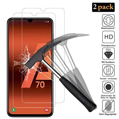 ANEWSIR Panzerglas Schutzfolie Kompatibel mit Samsung Galaxy A70/A90 5G Bildschirmschutzfolie, [2 Stück] [Einfache Installation] [ohne Luftblasen] [Anti-Kratzer], für Galaxy A70/A90 5G.