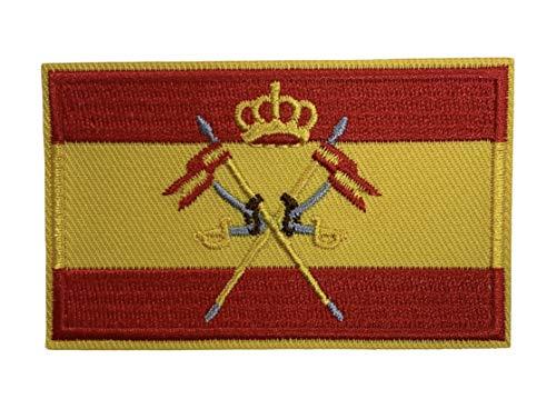 Parche Bandera de España del cuerpo Militar de Caballería 8x5 cm | Muy Adherentes | Patch Stickers Para Decorar Tu Ropa | Fáciles de Poner en Chaquetas Pantalones Camisas y Objetos de Tela