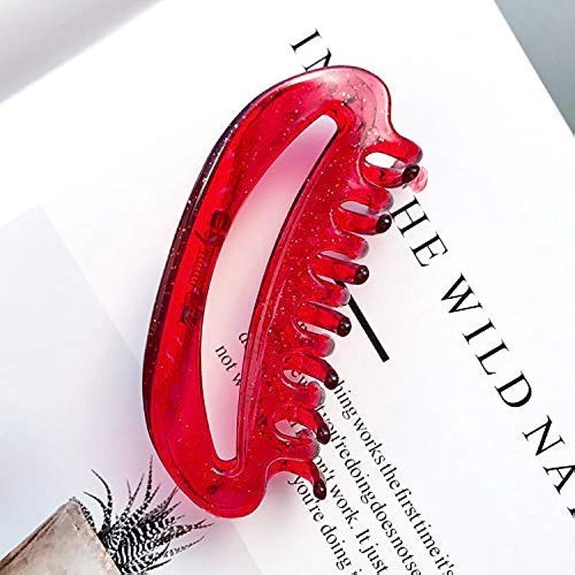 ガジュマルパトロンミルクHPYOD HOME Diyマジックヘア女性女の子ヘアピンヘアクリップディナーパーティーヘアスタイリングツールアクセサリー(赤)ヘアピン1ピース