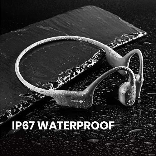 AfterShokzAeropex骨伝導ワイヤレスヘッドホン防水bluetooth5.0ルナグレイ