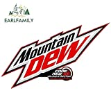 A/X 13cm x 7.8cm for Mountain Dew Logo Funny JDM Car Stickers Vinyl Fashion Anime Scratch-Proof Windshield Camper Decal