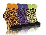 Sesto Senso Calcetines Casuales Gracioso Corto Vistoso Hombre Mujer Pack de 3 Las Manchas 35-38 3 Leopardo