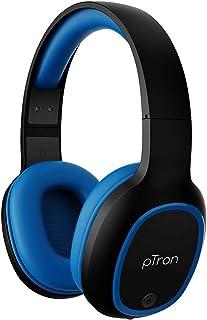 pTron Studio Over-Ear Bluetooth 5.0 Wireless Headphones, Hi-Fi Sound with Deep Bass, 12Hrs Playback, Ergonomic & Lightweig...