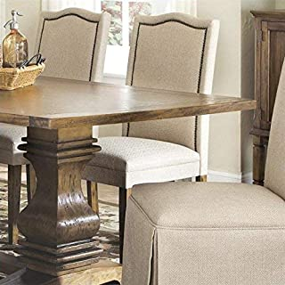 Parkins Parson Chairs Ivory and Rustic Amber (Set of 2)