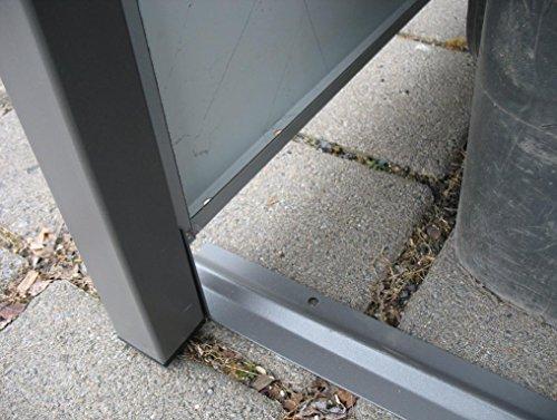 Mülltonnenbox Quadra aus Metall 3x 240 Liter - 3