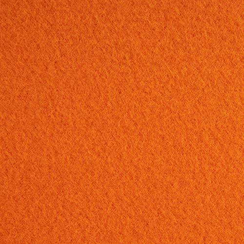 Polar Fleece Orange, Fabric by the Yard