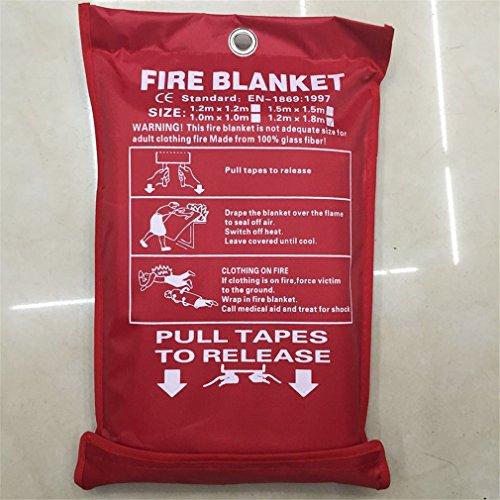 LUCKY CLOVER-A Löschdecke,Feuerlöschdecke, Din EN 1869 Brandschutzdecke Für Zuhause & Freizeit. 100% Glasfaser in Roter Schutzhülle,Erste-Hilfe-Service, 120 X 180Cm