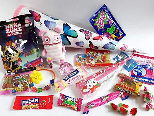101601 gefüllte Schultüte 35cm Betti für Schulanfang zum Verschenken Zuckertüte Gefüllt für Mädchen mit Spielzeug Sorgenfresser Schulsachen