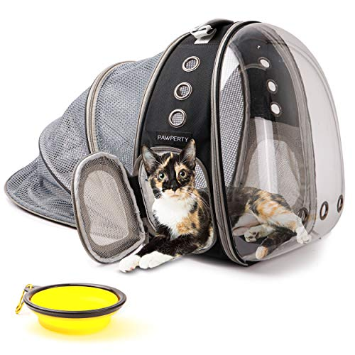 Cat Bubble Backpack - Backpack for Cats with Window - Expandable Pet Carrier Bag - Clear Capsule...