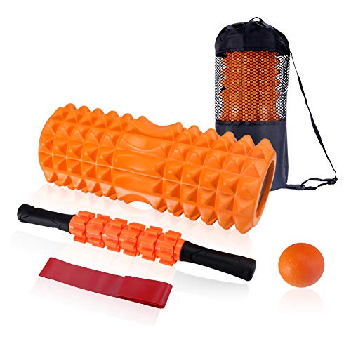 VOLADOR Rouleau de Massage, 5 en 1 Foam Roller Kit...