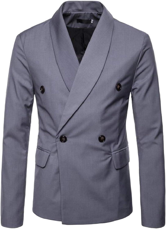 fbd81bdee QD-CACA Men's Double Breasted Lapel Lapel Lapel Slim Fit Formal Party Suit  Blazer Jackets 3b0770