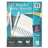 Avery 89101 - Custom Binder Spine Inserts, 1/2 Spine Width, 16 Inserts/Sheet, 5 Sheets/Pack [並行輸入品]