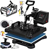 VEVOR Heat Press 12 X 15 Inch Heat Press Machine 5 in 1 Digital Multifunctional Sublimation T-Shirt Heat Press Machine for T Shirts Hat Mug Cap Plate