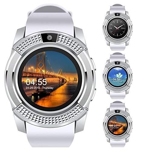 QWERTYU LIFUQIANGME Nieuwe mannen 'S En Vrouwen ' S Fashion Sport Smart Watch met Muziekspeler-telefoon Horloge met slot SIM de kaart GPS, wit