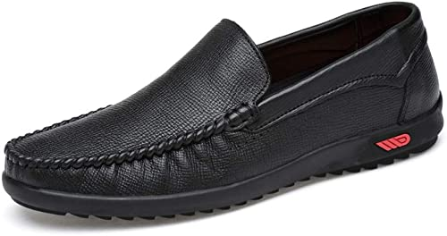 schuhe House Herren-Fahr Schuhe, Leder Rutschfeste Oxford-Schuhe, Leichte Gelegenheitsschuhe