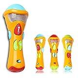 Cisixin Kinder Mikrofon Spielzeug,Elektronische Karaoke Musikalisches Mikrofon für Kinder -