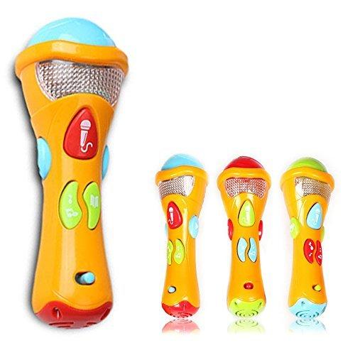 Itian® Juguetes de micrófono de Karaoke para niños, Micrófono para niños con grabación, transformación acústica, Canciones e iluminación Primer micrófono Musical electrónico Karaoke para niños