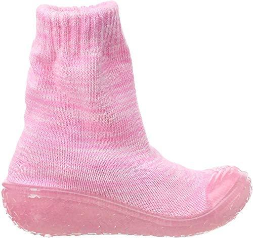Playshoes Unisex-Kinder Socke gestrickt Hohe Hausschuhe, Pink (Rosa 14), 22/23 EU