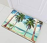 123456789 Baño Impermeable Playa Vacaciones Palmas Hamaca Cortina de Ducha