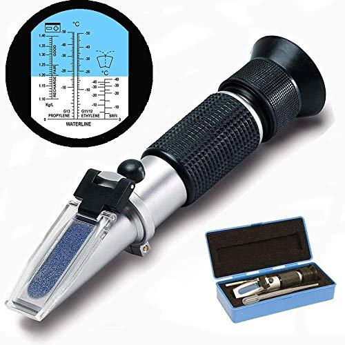 Frostschutz Refraktometer, Handrefraktometer für Ethylenglykol, Propylenglykol, Gefrierpunkt von Kühlwasser, Scheibenwasser, AdBlue, Batterie by ARTUROLUDWIG