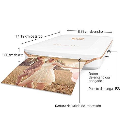 HP 2FR85A#AH2 Sprocket Plus - Impresora fotográfica portátil, Tecnología de impresión Zink, Bluetooth, Fotos  5.8 x 8.7 cm, Blanco