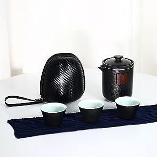 GaoYunQin Service à thé de Voyage Ensembles de Thé Kung Fu Céramique de Voyage Traditionnel Style Chinois Japonais 1 Pot 3...