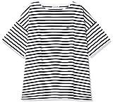 [ラコステ] Tシャツ [公式] リラックスフィット ストライプデザインボートネックTシャツ レディース TF102EL ネイビー 日本 038 (日本サイズL相当)