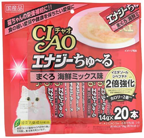 チャオ (CIAO) 猫用おやつ エナジーちゅ~る まぐろ 海鮮ミックス味 14g×20本入