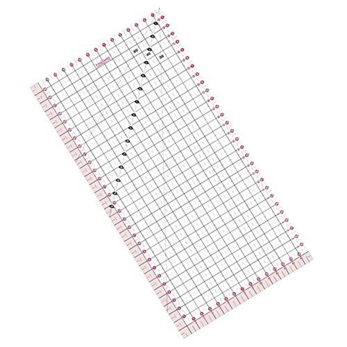Fiskars Acrylic Ruler 15 cm x 30 cm, Optimal for Patchwork, Various Shapes, 1003899