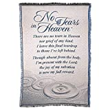 Dicksons No Tears in Heaven Memorial 46 x 68 All Cotton Tapestry Throw Blanket
