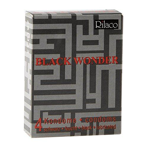 RILACO Kondome in black Wonder 4 Stück, 1er Pack (1 x 4 Stück)