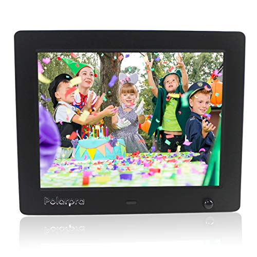 Digital Photo Frame 8 Inch,Electronic Picture Frame HD 800x600 LCD Widescreen Smart Digital Picture Frame 720P/1080P Video Picture with Motion Sensor/Alarm/Auto-Rotate/SD&USB Port/Wall Mountable-Black Digital Frames Picture