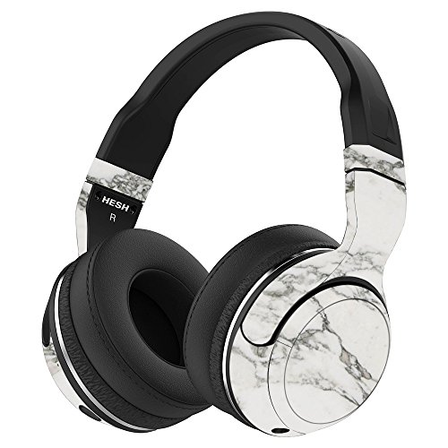 MightySkins Skin Compatible with Skullcandy Hesh 2 Wireless Headphones - White Marble | Protective, Durable, and Unique Vinyl wrap Cover | Easy to Apply, Remove, and Change Styles | Made in The USA