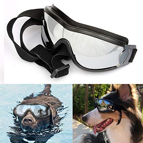 ZHER-LU Haustierbrille, wasserdicht, Winddicht, Sonnenschutz, UV-Schutz, verstellbar mit Box
